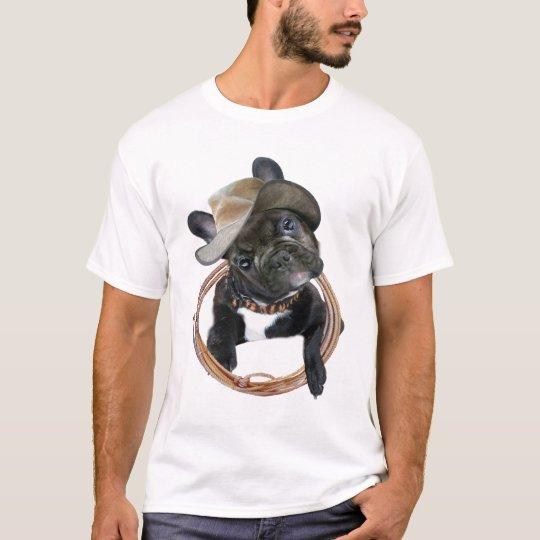 FRENCH BULLDOG PUP WEARS LASSO T-Shirt