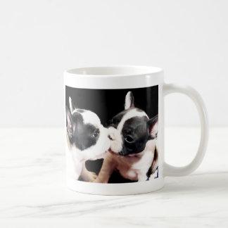 French bulldog puppies classic white coffee mug
