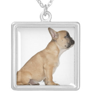 French Bulldog puppy (3,5 months old) Square Pendant Necklace