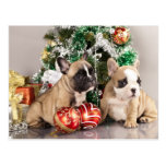 French bulldog puppy and Christmas gifts Postcards
