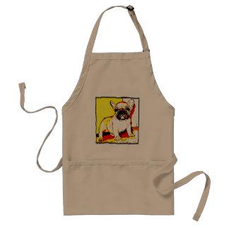 French bulldog puppy apron