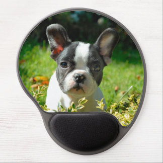 French bulldog puppy behind the foliage gel mouse pad