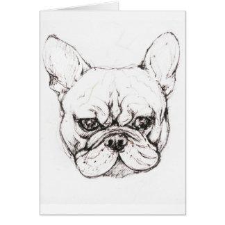 French Bulldog Puppy Card