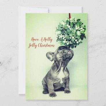 French Bulldog Puppy Christmas Holiday Card