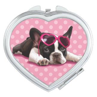French Bulldog Puppy Compact Mirror