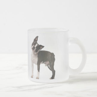 French bulldog - puppy dog - frenchie dog frosted glass coffee mug