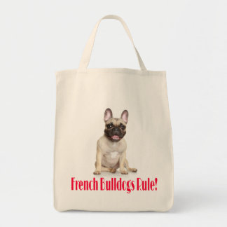French Bulldog Puppy Dog Grocery Tote Bag