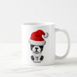 French Bulldog Puppy Dog Wearing a Santa Hat Coffee Mug