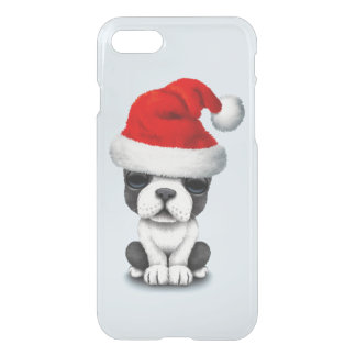 French Bulldog Puppy Dog Wearing a Santa Hat iPhone 8/7 Case