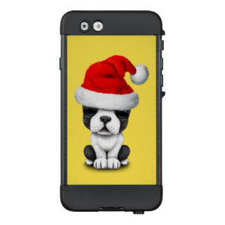 French Bulldog Puppy Dog Wearing a Santa Hat LifeProof NÜÜD iPhone 6 Case