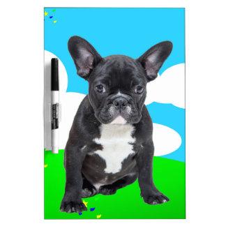 French Bulldog Puppy Happy Birthday Clouds Garden Dry-Erase Board