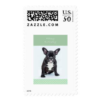 French Bulldog Puppy Happy Birthday Postage