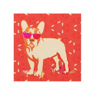 French Bulldog Puppy Illustration Wood Wall Art