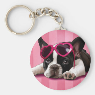 French Bulldog Puppy Keychain
