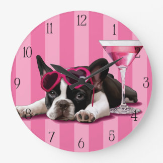 French Bulldog Puppy Large Clock