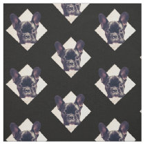 French Bulldog puppy pattern Fabric