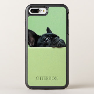 French Bulldog Puppy Peering Over Wall OtterBox Symmetry iPhone 7 Plus Case
