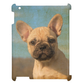 French Bulldog Puppy Portrait Vintage Tablet Case Cover For The iPad 2 3 4