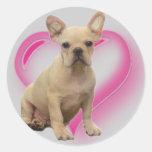 French bulldog puppy stickers