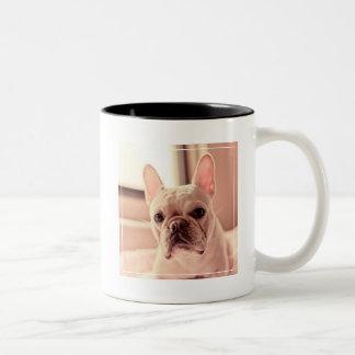 French Bulldog Puppy Two-Tone Coffee Mug