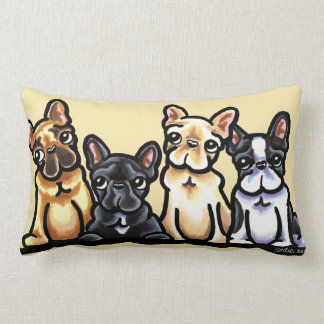 French Bulldog Quartet Lumbar Pillow