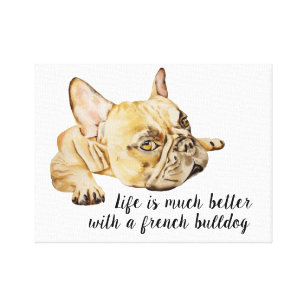 French Bulldogs Canvas Art & Prints | Zazzle