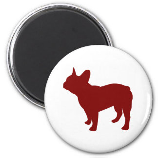 French Bulldog (Red) 2 Inch Round Magnet
