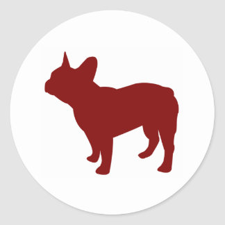 French Bulldog (Red) Classic Round Sticker