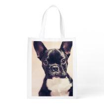 French Bulldog Reusable Grocery Bag