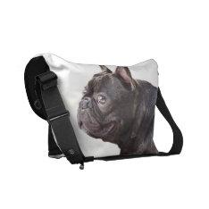 French Bulldog Rickshaw Courier Bag at Zazzle