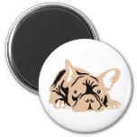 French Bulldog rose 2 Inch Round Magnet