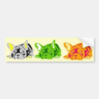 French Bulldog rose Bumper Sticker