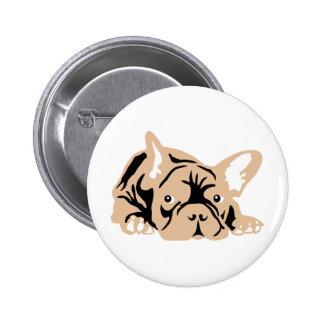 French Bulldog rose Button