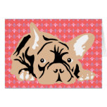 French Bulldog rose Greeting Cards