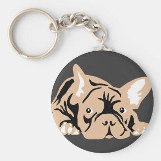 French Bulldog rose Keychains