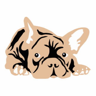 French Bulldog rose Cut Outs
