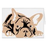 French Bulldog rose Tarjetas