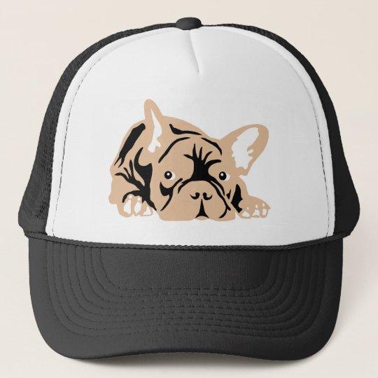 French Bulldog rose Trucker Hat