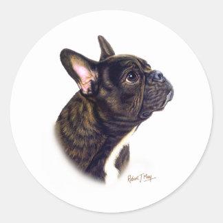 French Bulldog Round Sticker