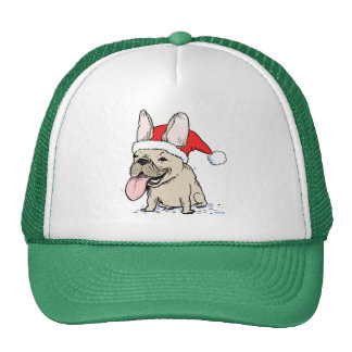 French Bulldog Santa Clause Trucker Hat