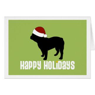 French Bulldog Santa Hat Cards