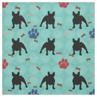 French Bulldog Shadow Fabric