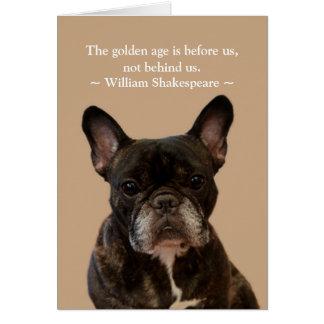 French Bulldog Shakespeare Happy Birthday Card