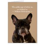 French Bulldog Shakespeare Happy Birthday Greeting Card