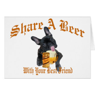 French Bulldog Shares A Beer Card
