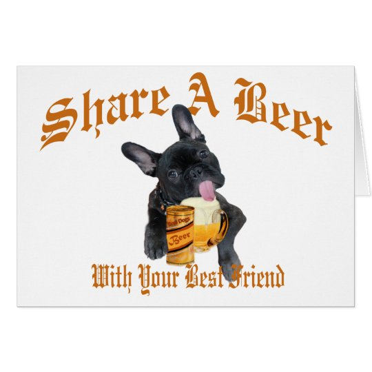 French Bulldog Shares A Beer Card