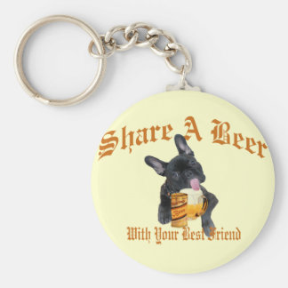 French Bulldog Shares A Beer Keychain