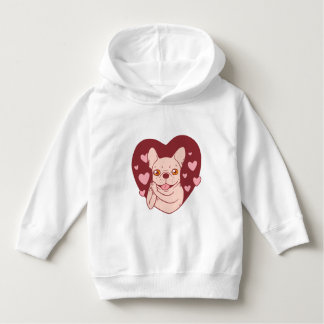 French Bulldog Sharing Love and Passion Hoodie