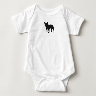 French Bulldog Silhouette Baby Bodysuit