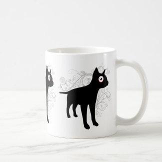 french bulldog silhouette big eye funny animal coffee mug